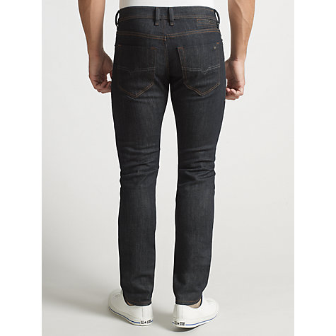 Buy Diesel Darron Slim Tapered Leg Jeans, Mid-Blue Wash Online at johnlewis.com