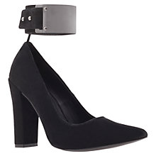 Buy KG by Kurt Geiger Carly Cuffed Court Shoes, Black Online at johnlewis.com