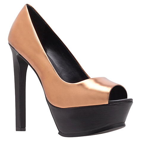 Buy KG by Kurt Geiger Hyper High Heel Platform Court Shoes Online at johnlewis.com