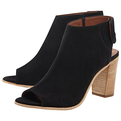 Buy Dune Black Lenci Suede Sandals Online at johnlewis.com