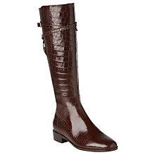 Buy L.K. Bennett Denise Knee High Riding Boot, Chocolate Online at johnlewis.com