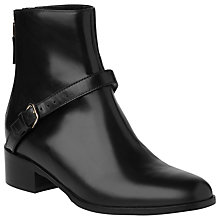 Buy L.K. Bennett Jamie Biker Ankle Boots, Black Online at johnlewis.com