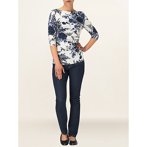 Buy Phase Eight Chrysanthemum Ruched Top, Multi Online at johnlewis.com