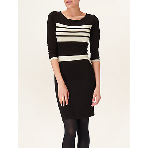 Buy Phase Eight Minnie Monochrome Dress, Black Online at johnlewis.com