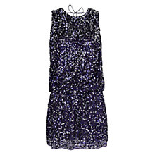 Buy Mango Sequin Detail Dress, Navy Online at johnlewis.com