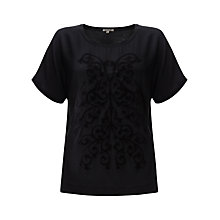 Buy Jigsaw Cotton Silk Applique Top Online at johnlewis.com