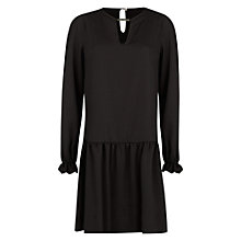 Buy Mango Metal Detail Chiffon Dress, Black Online at johnlewis.com