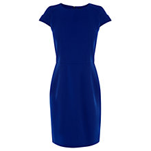 Buy Oasis Olivia Crepe Shift Dress, Rich Blue Online at johnlewis.com