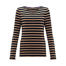 Buy Jigsaw Amelie Striped Breton T-Shirt Online at johnlewis.com