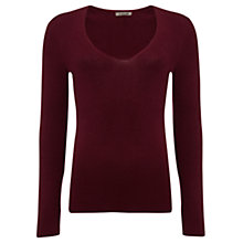Buy Jigsaw Silk Cotton V Neck Sweater Online at johnlewis.com