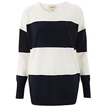 Buy Havren Bold Striped Jumper, Navy/Cream Online at johnlewis.com