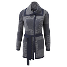 Buy Viyella Wrap Jacquard Cardigan, Grey Online at johnlewis.com
