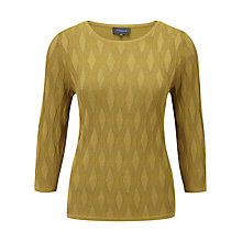 Buy Viyella Olive Diamond Stitch Jumper, Olive Online at johnlewis.com