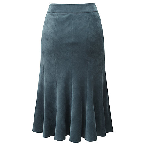 Buy Viyella Petite Fit and Flare Skirt, Teal Online at johnlewis.com