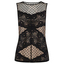 Buy Oasis Lace Top, Black Online at johnlewis.com