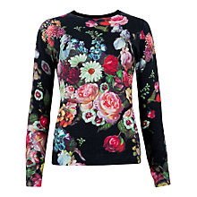 Buy Ted Baker Edryss Oil Painting Print Sweatshirt, Black Online at johnlewis.com