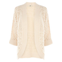 Buy Oasis Pod Cardigan, Light Neutral Online at johnlewis.com