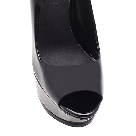 Buy KG by Kurt Geiger Hyper High Heel Platform Court Shoes, Black Online at johnlewis.com
