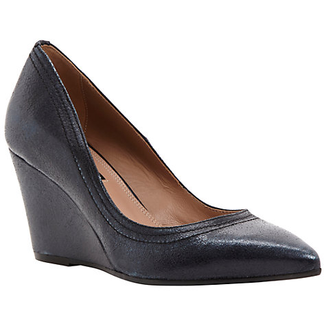 Buy Dune Black Ansay Wedged Court Shoes Online at johnlewis.com