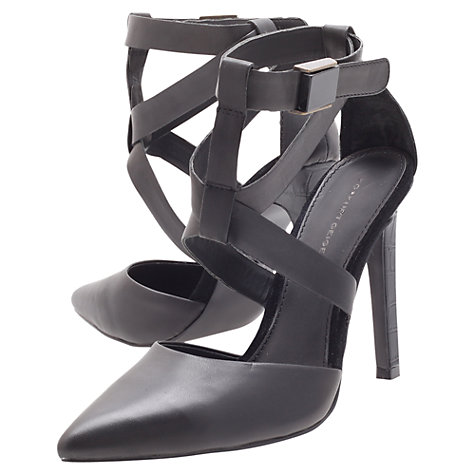 Buy KG by Kurt Geiger Christy Strappy Court Shoes, Black Online at johnlewis.com