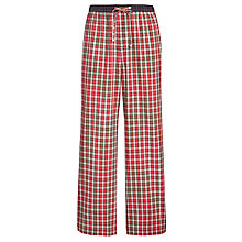 Buy Polo Ralph Lauren Woven Plaid Pyjama Pants, Red Online at johnlewis.com