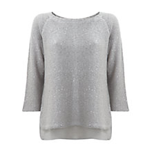 Buy Mint Velvet Sequin Button Jumper Online at johnlewis.com