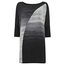 Buy Mint Velvet Fern Print Dress, Black Online at johnlewis.com