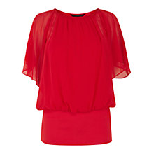 Buy Coast Calla Chiffon Top, Lipstick Online at johnlewis.com
