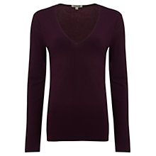 Buy Jigsaw V-Neck Long Sleeve Top Online at johnlewis.com