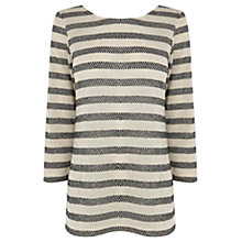 Buy Oasis Spot Lurex Stripe Top, Multi Online at johnlewis.com