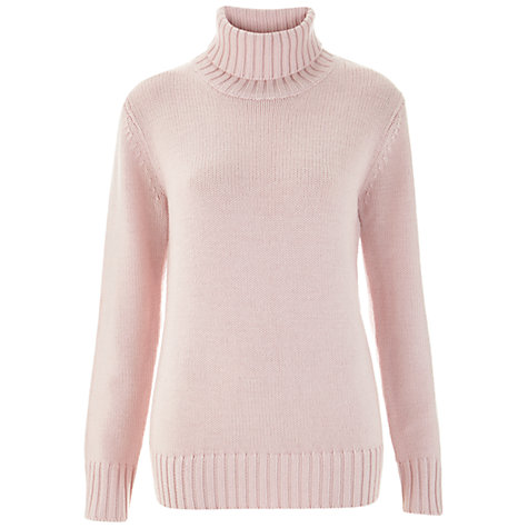 Buy Havren Roll Neck Jumper, Pale Pink Online at johnlewis.com