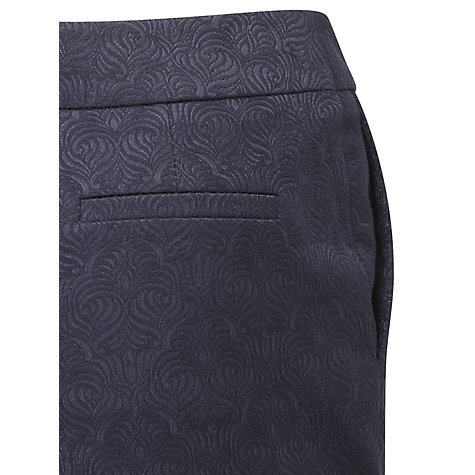 Buy Viyella Jacquard Trousers, Navy Online at johnlewis.com