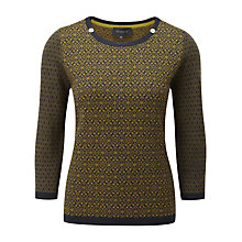 Buy Viyella Jacquard Knit Jumper, Olive Online at johnlewis.com