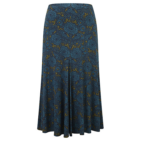 Buy Viyella Chrysanthemum Jersey Skirt, Teal Online at johnlewis.com