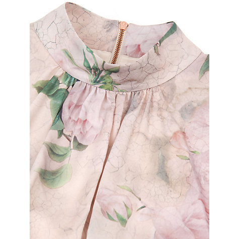 Buy Ted Baker Dyanna Floral Print Dress, Light Pink Online at johnlewis.com