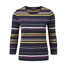 Buy Viyella Posh Stripe Jersey Top, Multi Online at johnlewis.com