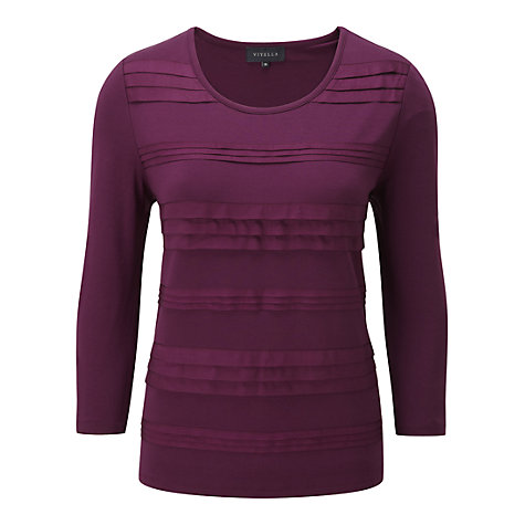 Buy Viyella Grosgrain Pleat Top Online at johnlewis.com