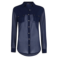Buy Mango Textured Polka Dot Shirt Online at johnlewis.com