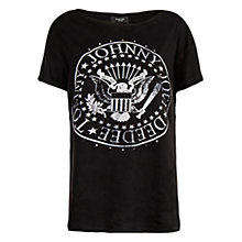 Buy Mango Ramones T-Shirt, Black Online at johnlewis.com