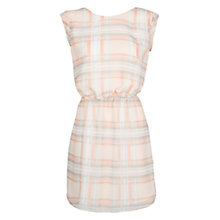 Buy Mango Wrapped Checked Dress, Neutrals Online at johnlewis.com