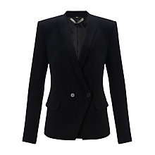 Buy Jigsaw Crepe Tailored Jacket, Black Online at johnlewis.com