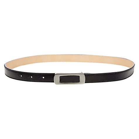 Buy Jigsaw Skinny Leather Retro Belt, Black Online at johnlewis.com