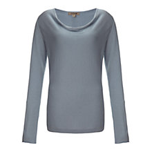 Buy Jigsaw Luxury Cowl Neck Sweater, Dusky Blue Online at johnlewis.com