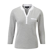 Buy Viyella Mandarin Collar Polo Top Online at johnlewis.com