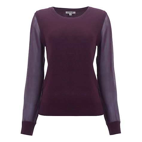 Buy Jigsaw Chiffon Sleeve Sweater Online at johnlewis.com