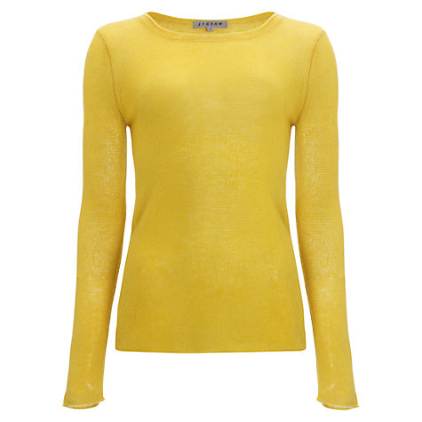 Buy Jigsaw Cashmere Open Knit Jumper, Yellow Online at johnlewis.com