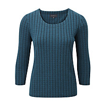 Buy Viyella Rope Textured Jersey Top, Teal Online at johnlewis.com