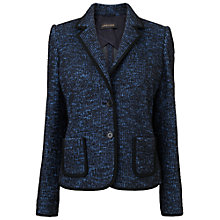 Buy Jaeger Tweed Jacket, Blue Online at johnlewis.com