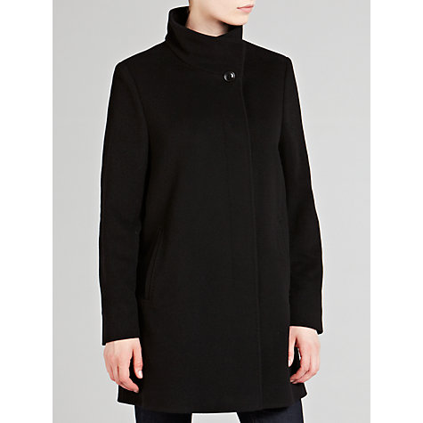 Buy Basler Funnel Neck Wool-Blend Coat, Black Online at johnlewis.com