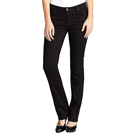 Buy Lee Marion Straight Leg Jeans, Clean Black Online at johnlewis.com